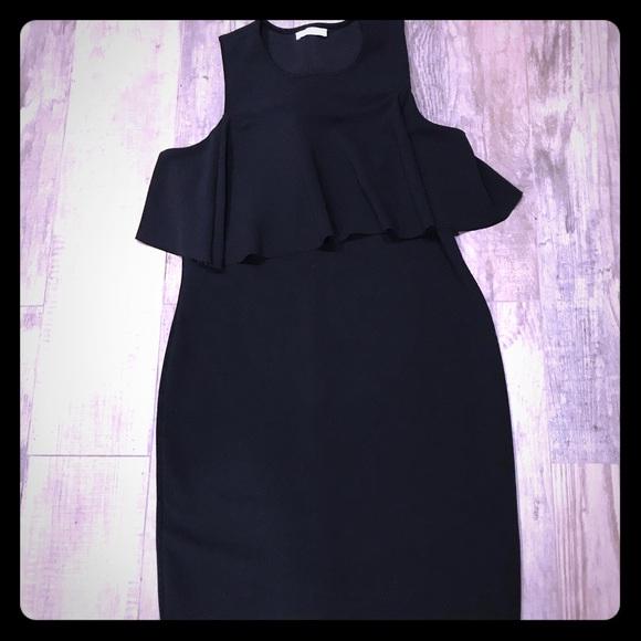 Zara Dresses & Skirts - Zara black sleeveless ruffle dress M